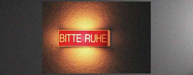 Bitte-Ruhe-banner