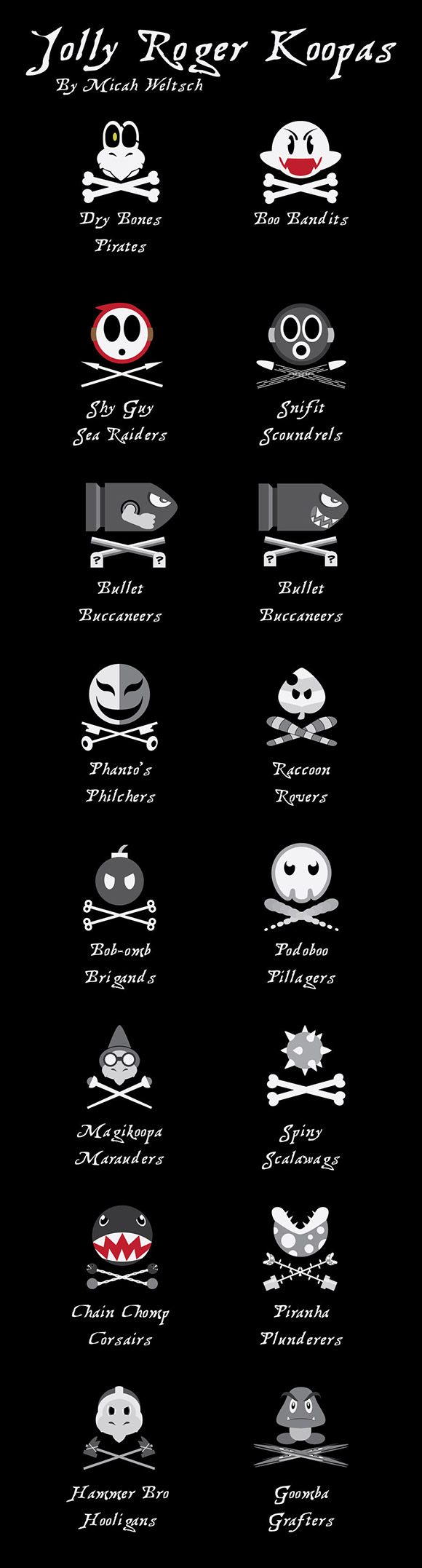 Mario Pirate Flags 1 Jolly Roger Koopas   Marios Piraten [1 Arrrrr]