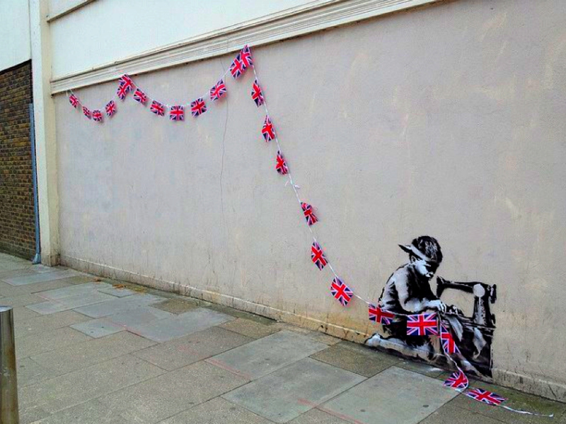 banksy child Neuer Banksy in London aufgetaucht [1 Bild]