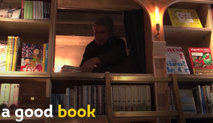 Buchladen-schlafen-bett