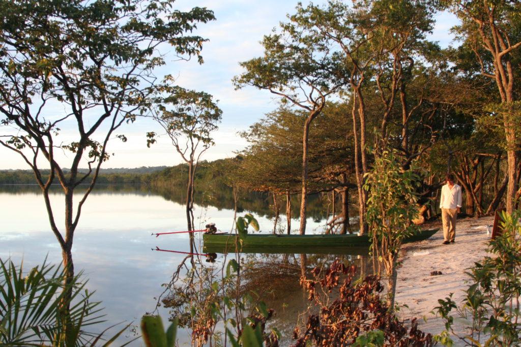Ich am Amazonas wo irgendwo in der Nähe die BBC gerade gefilmt hat
